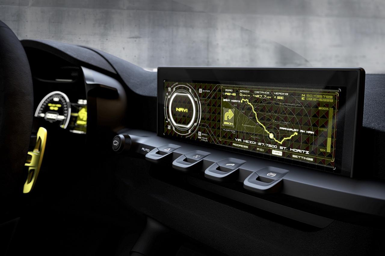 Interiorul foloseste un minim necesar de butoane si un display cu tehnologie OLED